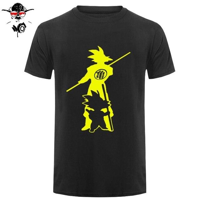 Japan anime Dragon Ball Z printing T Shirt Saiyan funny men Son Goku Tees Tops Men Clothes