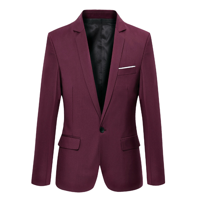 MEN'S Suit Casual Spring And Autumn Korean-style Slim Fit Youth Formal Dress Single Blouse Handsome Trend Small Suit MEN'S Outer