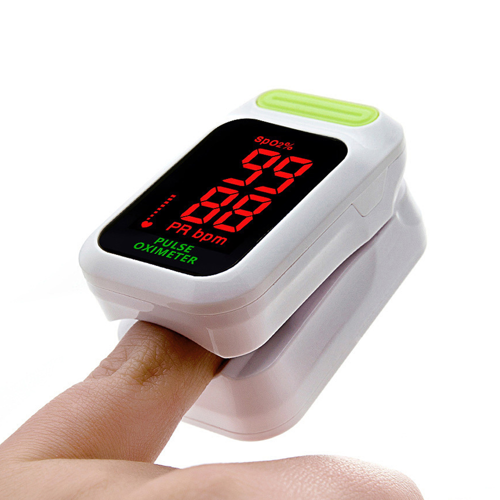 ZOSS 2018 New Finger Oxygen Meter LED Screen Finger Clip Pulse Oximeter Heart Rate Instrument Oxygen Saturation Detector 1pcs