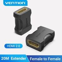 Vention-HDMI 익스텐더 4K HDMI 2.0 암-암 커넥터 케이블 확장 어댑터 커플러 PS4/3 TV 스위치 HDMI 익스텐더, 케이블 확장 어댑터 커플러