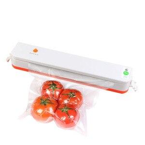 Household Food Vacuum Sealer Packaging Machine Film Sealer Vacuum Packer Including 15Pcs Bags Vacuum Food Sealers 110V/220V 35D