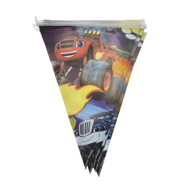 Blaze Monster Machines Thema Banners Gelukkige Verjaardag Jongens feestartikelen Vlaggen Decoraties Baby Shower Evenementen Wimpels
