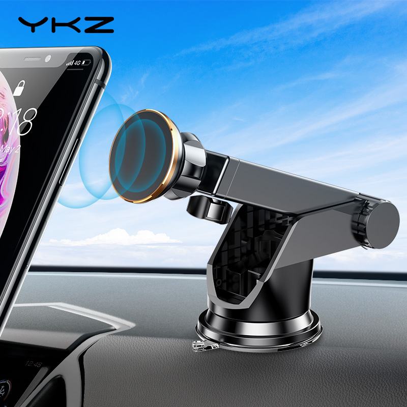 YKZ Magnetic Car Phone Holder For IPhone Xs Max XR 8 6 Telescopic Suction Cup Car Dashboard Mount Cell Mobile Phone Holder Stand