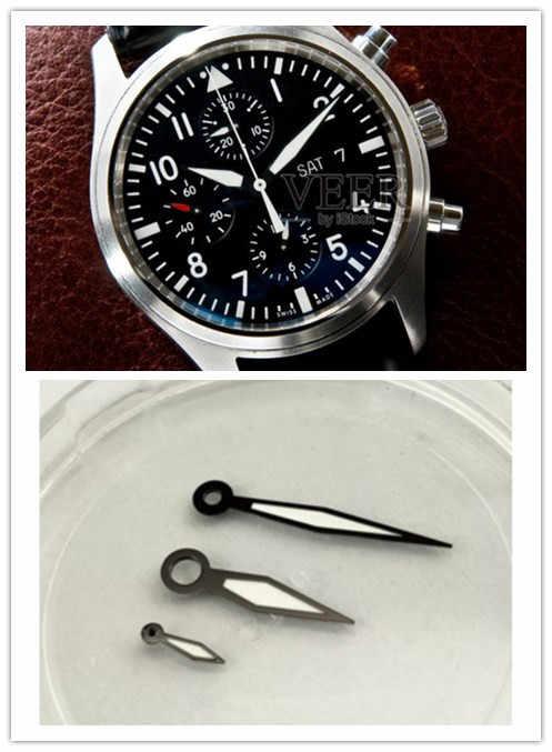 1 Set Verde Luminoso Lancette Dell'orologio Per Per ETA 6497/6498, Gabbiano ST36 Movimento Orologio Strumento di Riparazione di parti di Ricambio