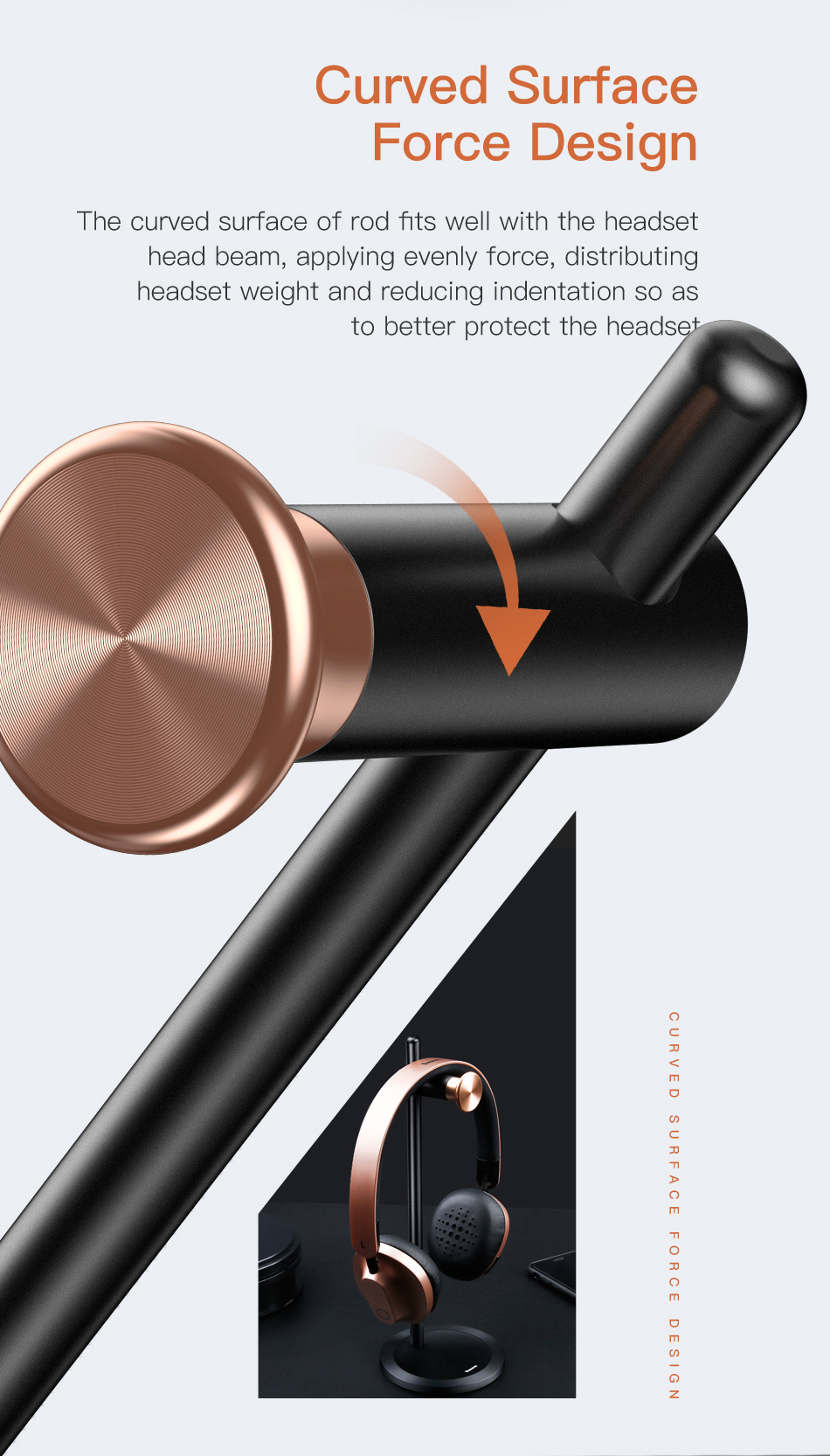 ASTROSOAR- Baseus Encok DB01 Adjustable Aluminum Alloy Headphone Holder Fashion Design Metal Texture Headset Desktop Stand Hanger