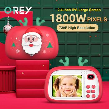 Święty mikołaj dzieci aparat fotograficzny dla dzieci aparat fotograficzny Mini zabawki dla dzieci dzieci prezenty świąteczne prezent urodzinowy aparat cyfrowy aparat fotograficzny tanie i dobre opinie OREY 2x-7x CN (pochodzenie) Brak Hd (1280x720) 4 3 cali 18-55mm 10 0-20 0MP Child Camera Karta sd Standardowy ekran 2 -3