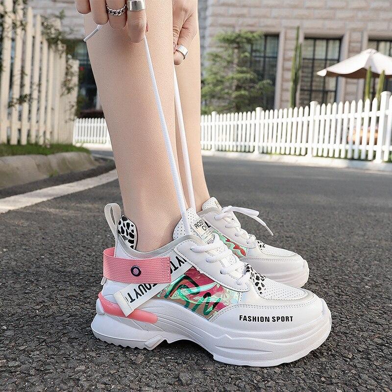 Women Running Shoes Brand Outdoor Sport Shoe Woman Sneakers Comfortable Athletic Gym Shoe Girl Height Increasing Platform Shoe