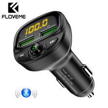 FLOVEME Bluetooth Car Charger For Phone USB FM Transmitter MP3 Player TF Card Music HandFree
