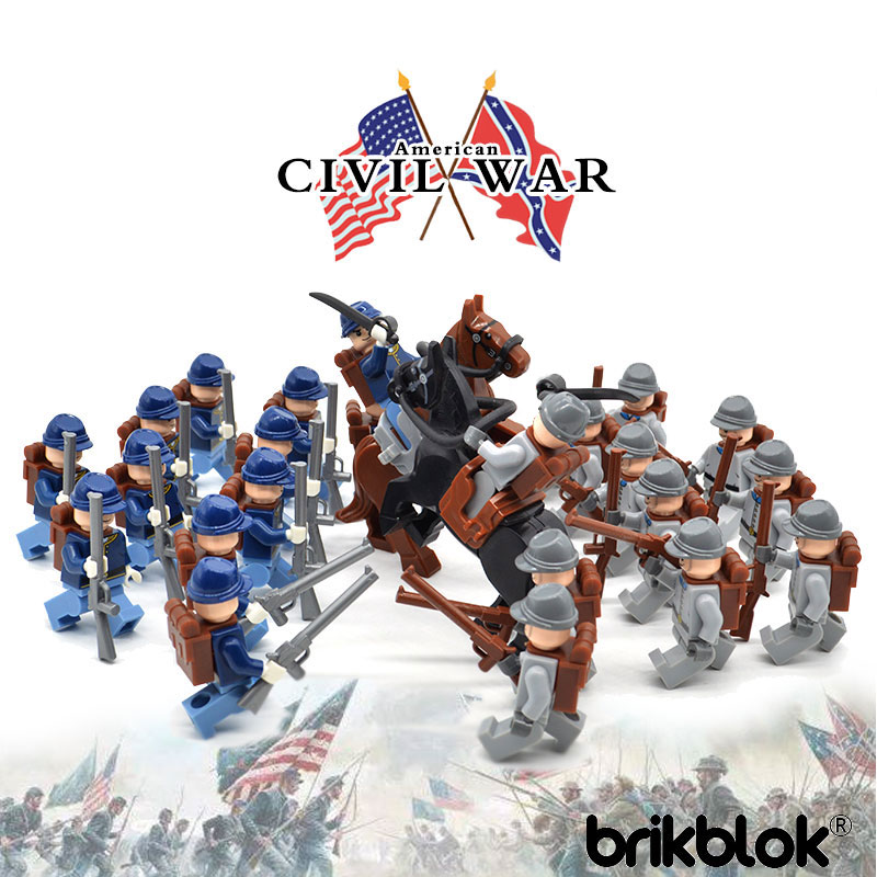 New Limited Set American Civil War Army Building Block Toys Union Confederacy North South Soldiers Figures
