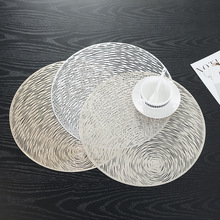 Silicone Mat Diameter Hollow Round Insulation Non-Slip Table Place Coaster PVC Kitchen Bowl Pads Placemat for Dining