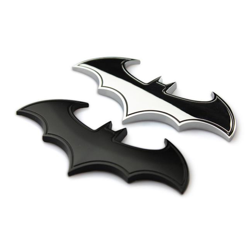 Car Metal Batman Car Stickers 3D Three-dimensional Decorative Stickers Batman Superman Labeling Car Tail Body Stickers Styling