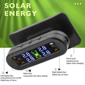 Image 3 - FORAUTO Solar Power TPMS Tyre Pressure Sensor Temperature Warning Fuel Save Car Tire Pressure Monitor System