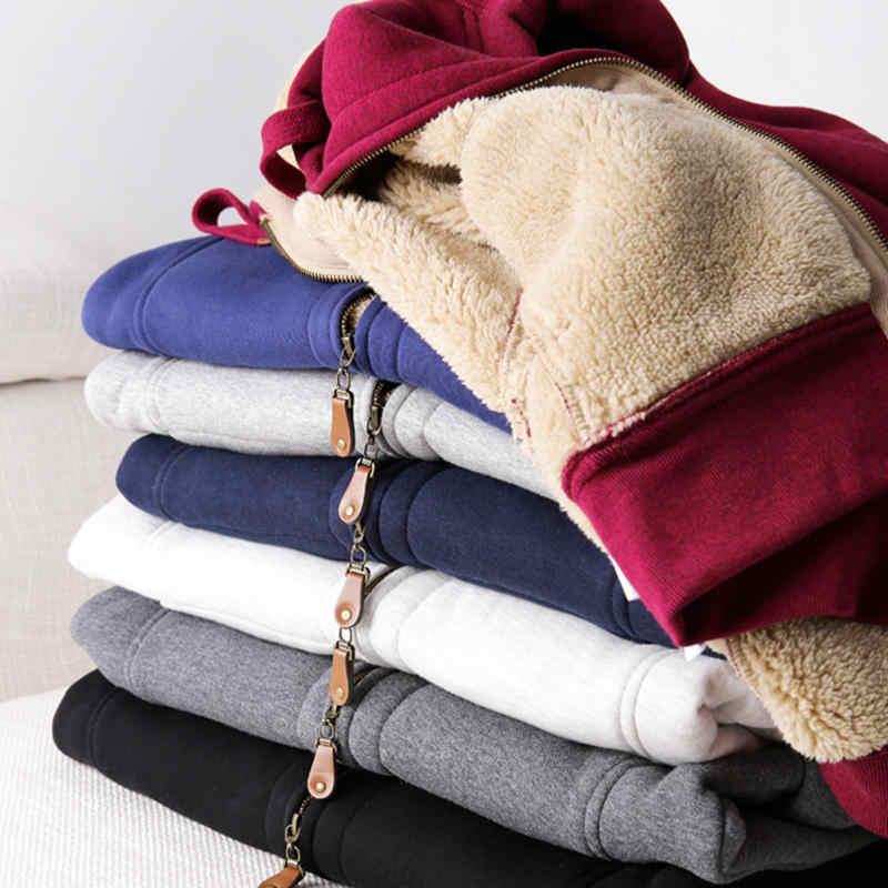 3XL Hooded Plus Fluwelen Sport Pak Truien Vrouwelijke Losse Herfst Winter Lam Dikke Trui Tweedelige Warm Sweatshirt Hoodies q2090