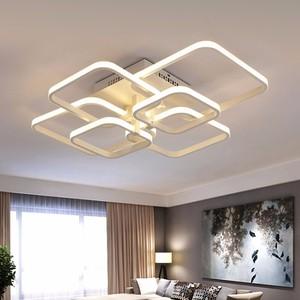 Image 4 - รีโมทคอนโทรลDimmingโมเดิร์นPlafon LEDโคมไฟเพดานอลูมิเนียมห้องรับประทานอาหารห้องนั่งเล่นห้องนอนไฟLamparas De Techo
