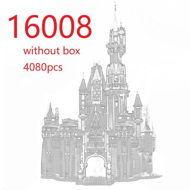 Principessa Castello Città Blocchi di Costruzione di Modello 4080pcs Compatibile legoed 71040 16008 Ragazza Regalo di mattoni