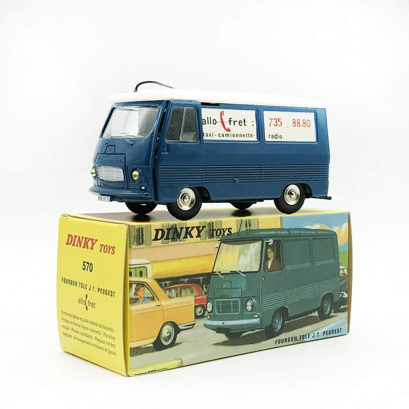 DINKY TOYS <font><b>1</b></font>/<font><b>43</b></font> FOURGON TOLE J7 <font><b>Peugeot</b></font> Bus Alloy <font><b>Model</b></font> Collection <font><b>Car</b></font> image