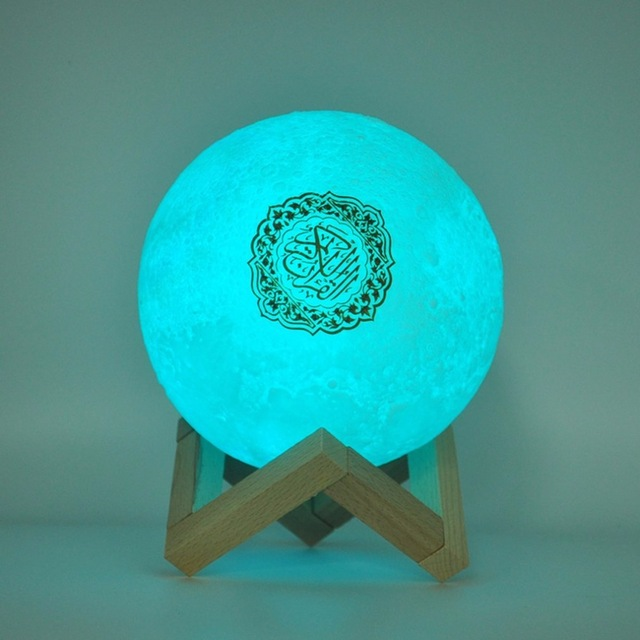 Bluetooth Speakers Wireless Muslim Night Light Quran speakers 3D Moon With remote control quran speaekr Light Koran Touch Lamp 1