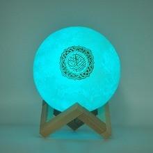 Bluetooth Speakers Wireless Muslim Night Light Quran speakers 3D Moon With APP control quran speaekr Light Koran Touch Lamp