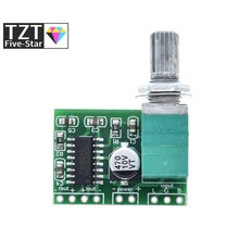 1 UNIDS PAM8403 5 V Tablero Del Amplificador Audio de 2 Canales 3 W W Control de Volumen Envío Gratis
