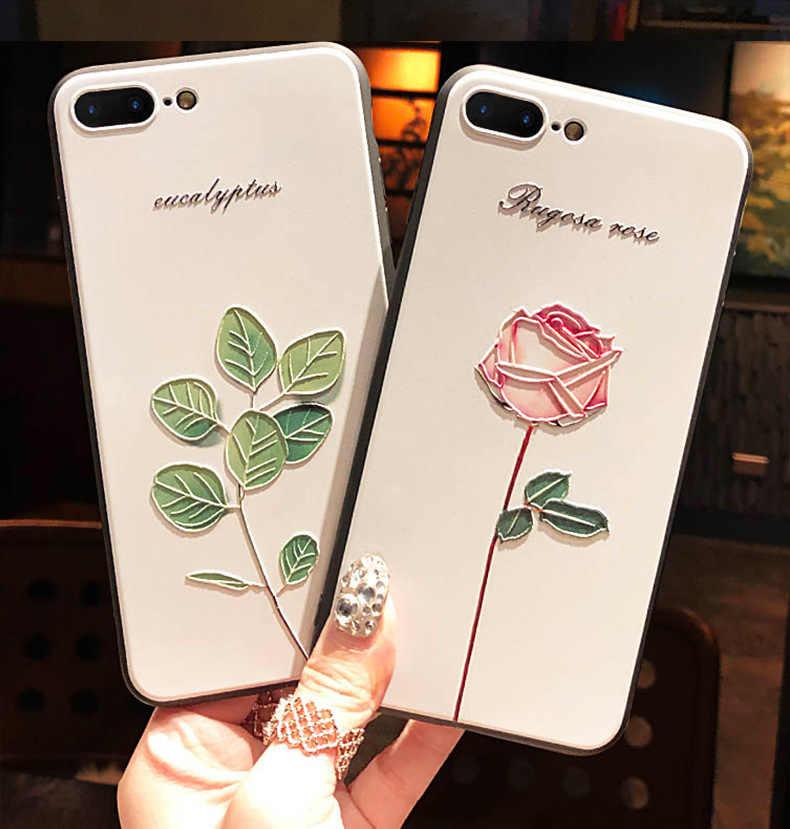 Untuk Vodafone Smart N10 Kasus 3D Relief Bunga Emboss Ponsel Case untuk Vodafone Smart V10 N10 N9 Lite Cover Smart x9 V 10 N 10 Tritone