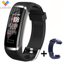 Lerbyeeสมาร์ทนาฬิกาGT101 Bluetooth Sleep MonitorนาฬิกาฟิตเนสHeart Rate Monitorหน้าจอสีผู้ชายผู้หญิงSmartwatch Runningใหม่