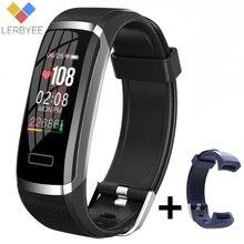 Lerbyee montre intelligente GT101 Bluetooth moniteur de sommeil montre de Fitness moniteur de fréquence cardiaque écran couleur hommes femmes Smartwatch en cours dexécution nouveau