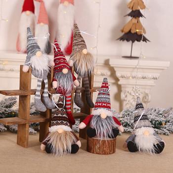 Święty mikołaj Snowman Elf ozdoby świąteczne lalka bez twarzy 2021 nowy rok Favor strona dekoracji dla domu ozdoby świąteczne tanie i dobre opinie CN (pochodzenie) PD-492 Navidad new Year decoration noel