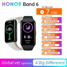 Honor Band 6 Global / CN Version Smartband Bracelet AMOLED Color Touchscreen Blood Oxygen SpO2 Heart Rate Sleep Swim Waterproof