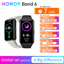 Honor Band 6 versione globale/CN braccialetto Smartband colore AMOLED Touchscreen ossigeno nel sangue SpO2 frequenza cardiaca sonno nuoto impermeabile