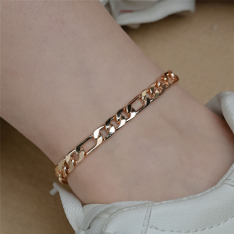 New Arrival Gold Cuban Chain Anklets For Women Punk Style Foot Jewelry Leg Ankle Bracelets Wholesale
