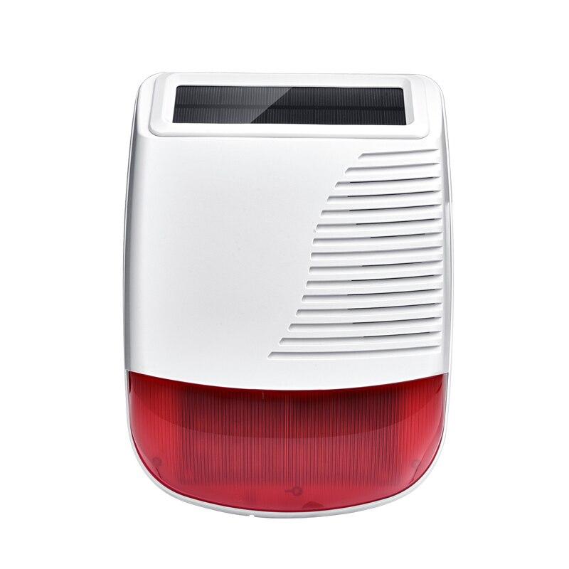 Wireless Solar Strobe Siren Waterproof 433MHz For Our PG103 106 107 W2B W3B W4B Home Burglar Wifi GSM Alarm System