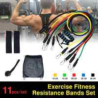Fitness Resistance Bands Set Expander Tubes Rubber Band Stretch Training Physical Therapy Gyms Workout Elastic Band Pull Rope