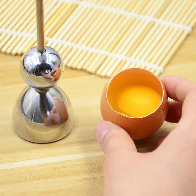 Aço inoxidável ovo cozido topper casca superior cortador ovo cracker separador knocker acessórios de cozinha cozinhar ferramentas