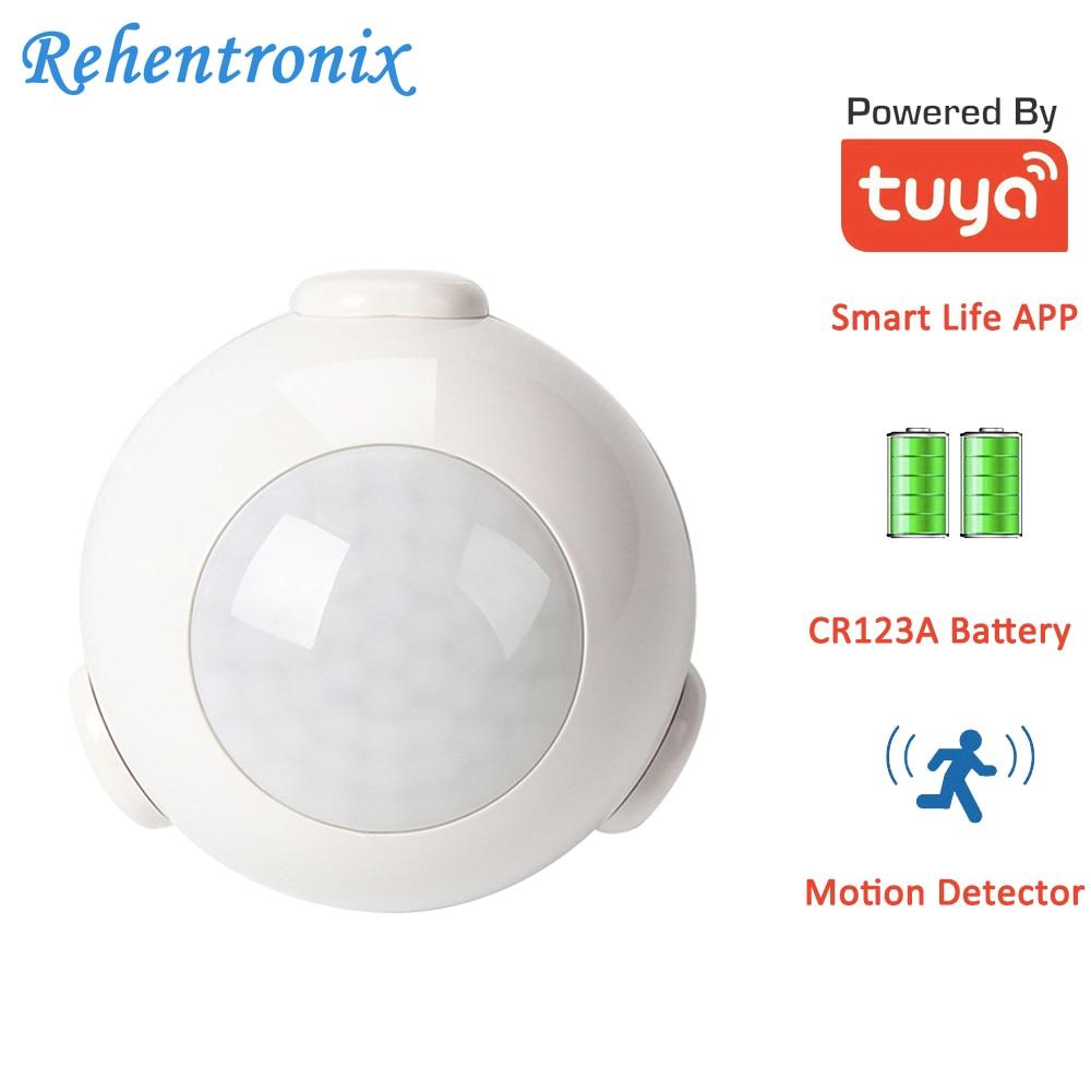Tuya Smart Wireless WiFi PIR Motion Sensor Detector Battery Powered With 110 Wide Detect Angel 7M Detect Distance