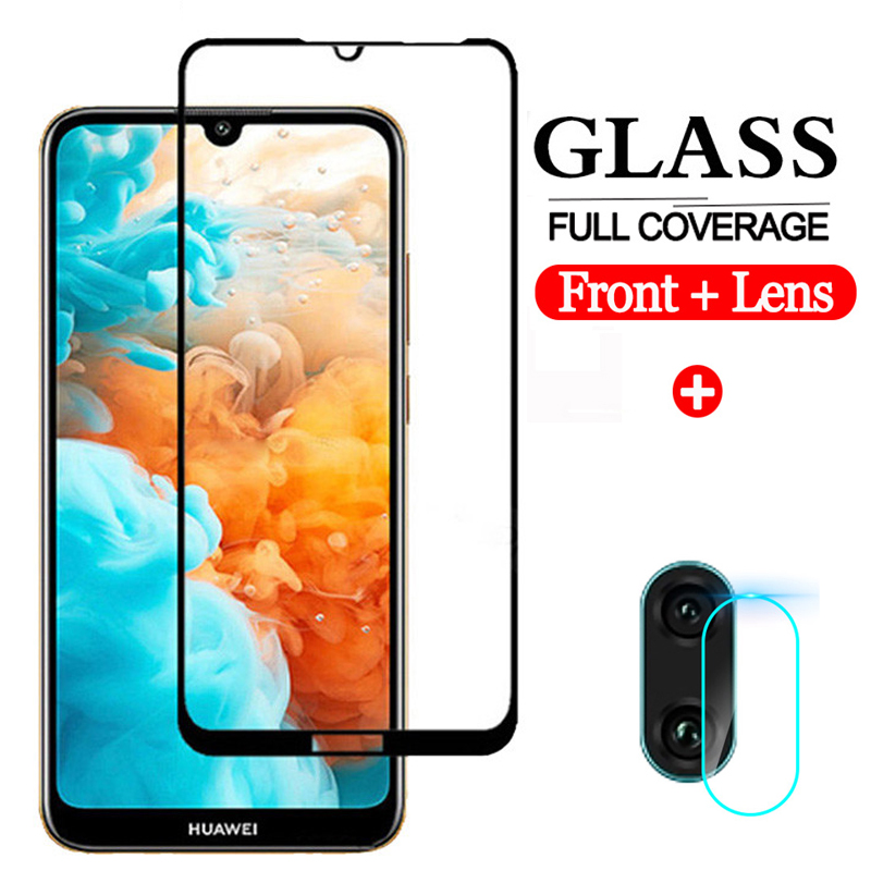 2-in-1 Screen Protector For Huawei Y6 Y7 2019 Protective Glass Huawey Y5 Y72019 Y62019 Prime Pro 2019 Honor 8S 9H Tempered Glass