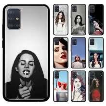Funda de Tpu negra para Samsung Galaxy, cubierta suave para Samsung Galaxy A51, A71, 5G, M51, M30s, A41, A31, A21s, A11, M31, Cas, Lana Del Rey, bonita