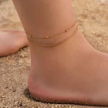 New products color bead anklet/bracelet/beads/Silver/multicolor/gift/daily/bohemian/beach to beautiful she image