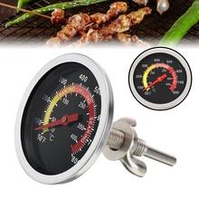 الفولاذ المقاوم للصدأ شواية باربيكيو ترومتر شواية درجة حرارة الفرن شواء الطبخ درجة الحرارة مقياس 50 إلى 800 فهرنهايت