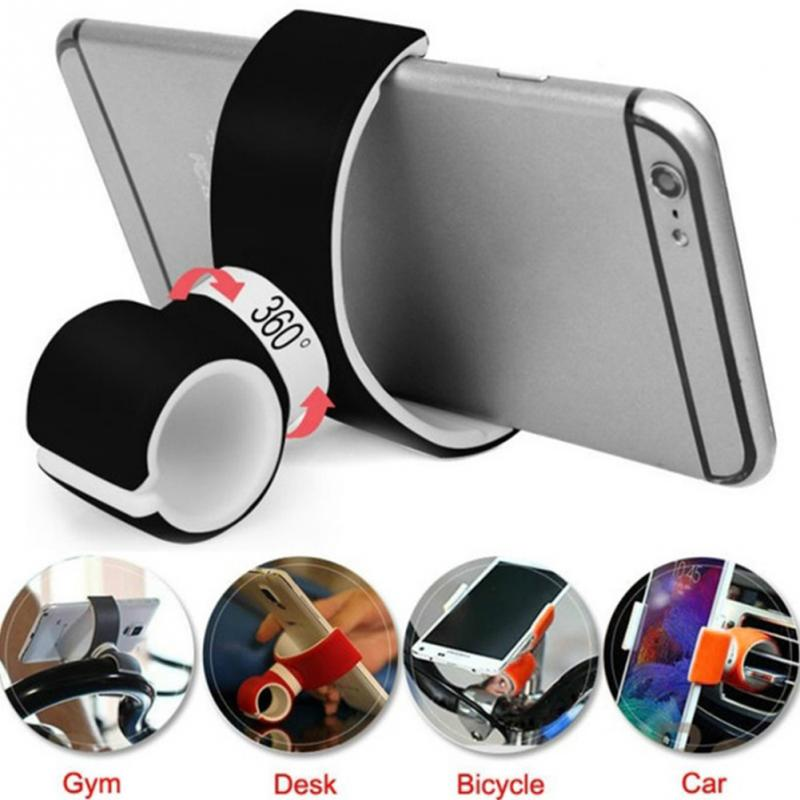 Double C 360 Rotating Universal Air Vent Mount Car Holder Stand Bike Bicycle Cell Desktop Phone Holder For Iphone 11 X 6 Support