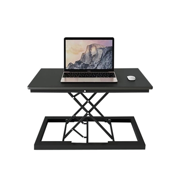 Foldable Lift Computer Standing Desk Converter Height Adjustable Sit Stand Up Desk Lapdesk for Monitor and Laptop Sit to Stand giantex height adjustable standing desk converter sit stand computer laptop workstation modern wood furniture hw57064