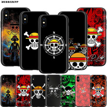 Webbedepp una pieza piratas caso para Apple iPhone 11 Pro XS Max XR 8X8 7 6 6S Plus 5 5S SE(China)