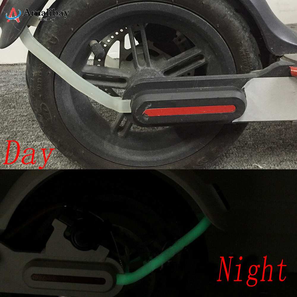 3D Printed Luminous Rear Mudguard Bracket for Xiaomi M365 Scooter Fender Support Protection Cable M365 Pro Scooter Accessories