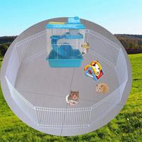 8pcs/set Small Pet Fence Cage Free Activity Large Space Pet Playpen For Hamster Hedgehog Guinea Pig 2019 Hot