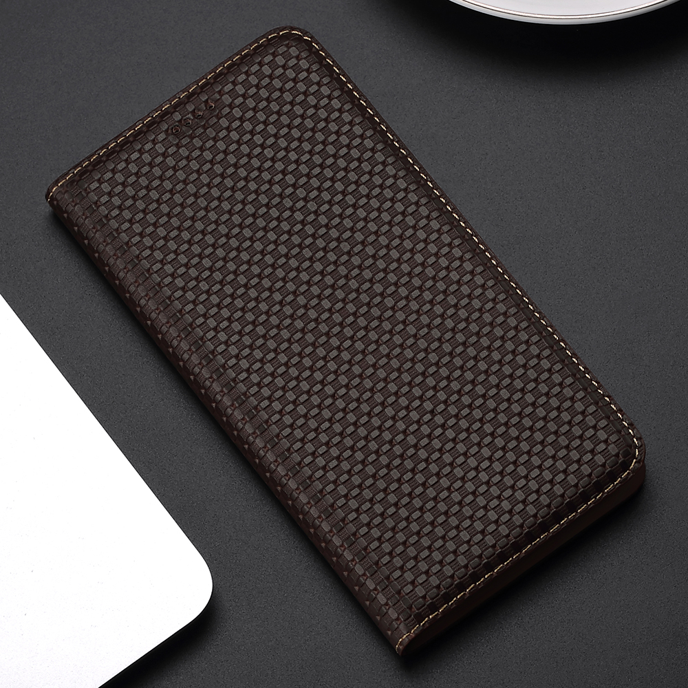 Business Genuine Leather Flip Case For Motorola One Pro Power 2 Vision Zoom Action Hyper Macro Edge Plus Cell Phone Cover Cases