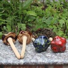 Садовые украшения керамические крафтовые в виде грибов суккулент