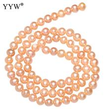 Cultured Potato Freshwater Pearl Beads Costume natural DIY Jewelry Designer Findings Pink Purple White