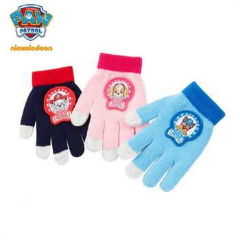 1 para oryginalne rękawice Patrol Paw jesień zima ciepłe rękawiczki Skye Marshall Chase antypoślizgowa rękawica silikonowa chłopcy dziewczęta prezent na boże narodzenie tanie i dobre opinie PAW PATROL Dzieci Unisex COTTON Cartoon Nadgarstek Moda 194PP618