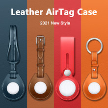 M3c luxuoso à prova de choque caso protetor para apple airtag couro hangable chaveiro bagagem tag saco charme loop