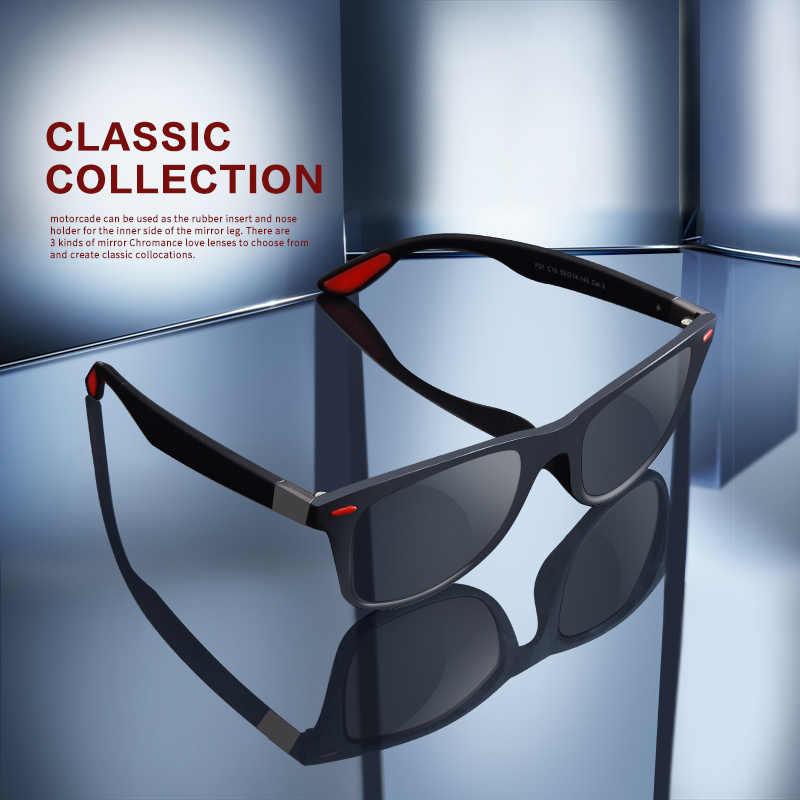 تصميم جديد خفيفة TR90 الاستقطاب النظارات الشمسية الرجال النساء القيادة مربع نمط نظارات شمسية الذكور حملق UV400 Gafas دي سول