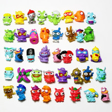 10-50pcs Superzings Zomlings Trash Action Figures Dolls 3CM Super Zings Garbage Collection Toys Model for Kids Playing Gift pack in bag 1 3pcs lot superzings anime trash dolls action figures 3cm super zings rubber model playing garbage doll gift